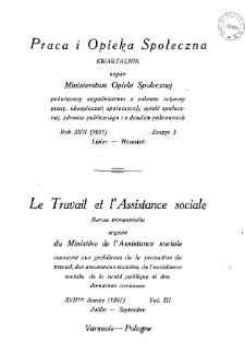 Praca i Opieka Społeczna : 1937, nr 3