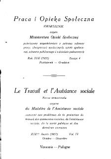 Praca i Opieka Społeczna : 1937, nr 4