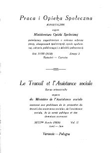 Praca i Opieka Społeczna : 1938, nr 2