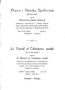 Praca i Opieka Społeczna : 1938, nr 4