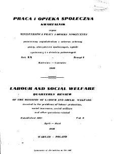 Praca i Opieka Społeczna : 1946, nr 2