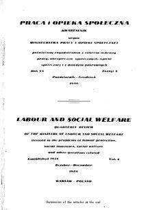 Praca i Opieka Społeczna : 1946, nr 4