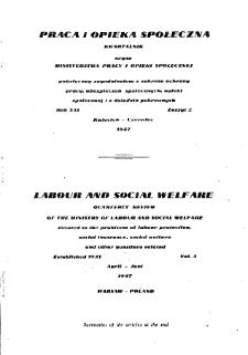 Praca i Opieka Społeczna : 1947, nr 2