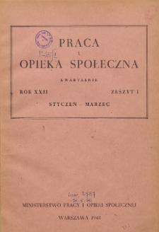 Praca i Opieka Społeczna : 1948, nr 1
