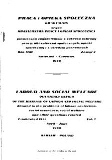 Praca i Opieka Społeczna : 1948, nr 2