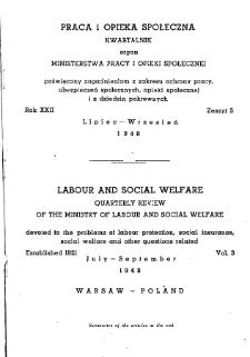 Praca i Opieka Społeczna : 1948, nr 3