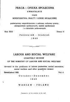 Praca i Opieka Społeczna : 1948, nr 4