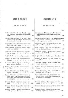 Praca i Opieka Społeczna : 1948, spis rzeczy