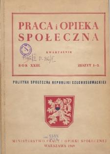 Praca i Opieka Społeczna : 1949, nr 1-2