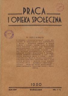 Praca i Opieka Społeczna : 1950, nr 1-2