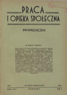 Praca i Opieka Społeczna : 1951, nr 2