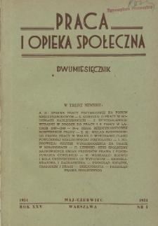 Praca i Opieka Społeczna : 1951, nr 3