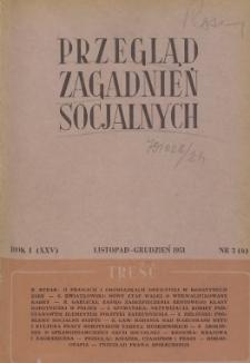 Przegląd Zagadnień Socjalnych : 1951, nr 3