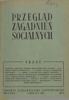 Przegląd Zagadnień Socjalnych : 1952, nr 8