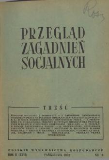 Przegląd Zagadnień Socjalnych : 1952, nr 10