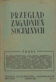 Przegląd Zagadnień Socjalnych : 1952, nr 11