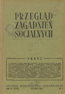 Przegląd Zagadnień Socjalnych : 1953, nr 1