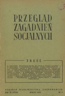 Przegląd Zagadnień Socjalnych : 1953, nr 3