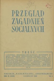 Przegląd Zagadnień Socjalnych : 1953, nr 6