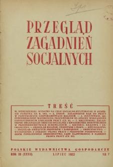 Przegląd Zagadnień Socjalnych : 1953, nr 7