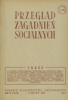 Przegląd Zagadnień Socjalnych : 1953, nr 8