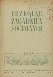 Przegląd Zagadnień Socjalnych : 1953, nr 9