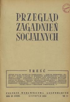 Przegląd Zagadnień Socjalnych : 1953, nr 11