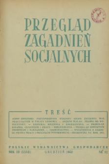 Przegląd Zagadnień Socjalnych : 1953, nr 12