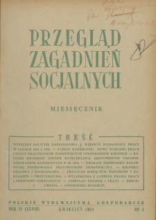 Przegląd Zagadnień Socjalnych : 1954, nr 4