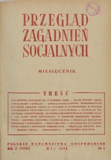 Przegląd Zagadnień Socjalnych : 1954, nr 5