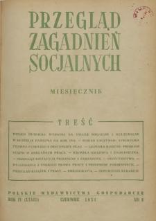 Przegląd Zagadnień Socjalnych : 1954, nr 6