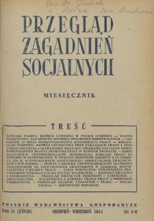 Przegląd Zagadnień Socjalnych : 1954, nr 8-9