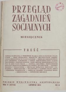 Przegląd Zagadnień Socjalnych : 1954, nr 11