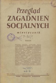 Przegląd Zagadnień Socjalnych : 1955, nr 1