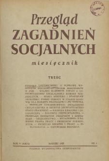 Przegląd Zagadnień Socjalnych : 1955, nr 3