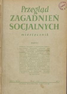 Przegląd Zagadnień Socjalnych : 1955, nr 5