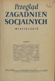 Przegląd Zagadnień Socjalnych : 1955, nr 6