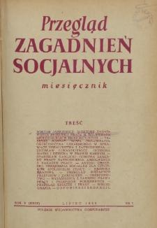Przegląd Zagadnień Socjalnych : 1955, nr 7