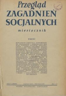 Przegląd Zagadnień Socjalnych : 1955, nr 8-9
