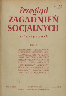 Przegląd Zagadnień Socjalnych : 1955, nr 10