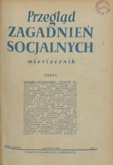 Przegląd Zagadnień Socjalnych : 1955, nr 11