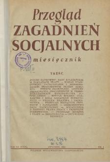 Przegląd Zagadnień Socjalnych : 1956, nr 1