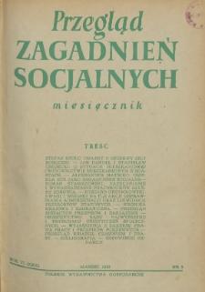 Przegląd Zagadnień Socjalnych : 1956, nr 3