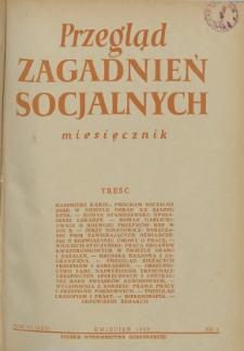 Przegląd Zagadnień Socjalnych : 1956, nr 4