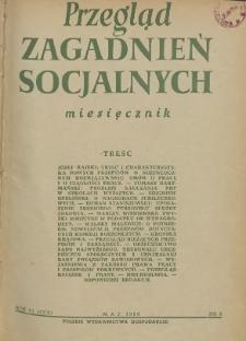Przegląd Zagadnień Socjalnych : 1956, nr 5