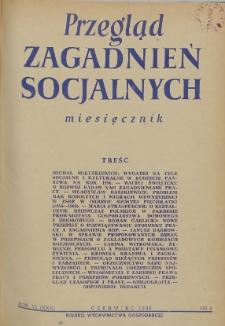 Przegląd Zagadnień Socjalnych : 1956, nr 6