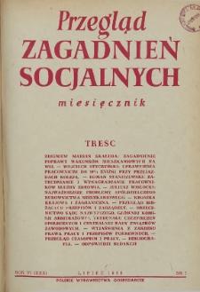 Przegląd Zagadnień Socjalnych : 1956, nr 7