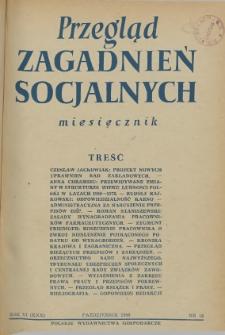 Przegląd Zagadnień Socjalnych : 1956, nr 10