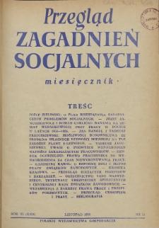 Przegląd Zagadnień Socjalnych : 1956, nr 11