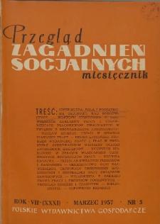 Przegląd Zagadnień Socjalnych : 1957, nr 3